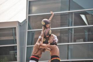 Imatge de l'actuació dels Matossers a Cervelló // Eusebi Miralles