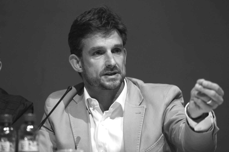 Xavi Paz durant un debat electoral // Guillem Urbà