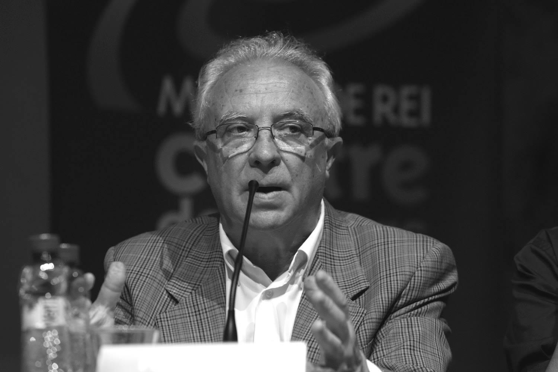 Pere García durant un debat electoral // Guillem Urbà