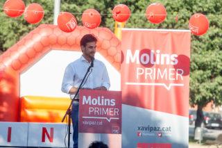 Xavi Paz en l'acte central de campanya // PSC Molins de Rei