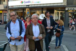 Monllaó, Garcia i Urtasun, al cercavila // Elisenda Colell