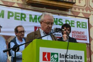Pere Garcia, fent el seu discurs // Elisenda Colell