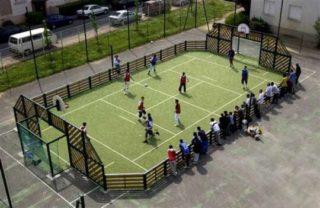 Exemple de pista polisportiva que volen fer els socialistes // PSC Molins de Rei