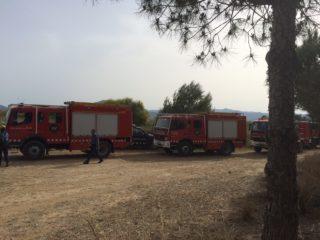 Els bombers actuant sobre la zona // Xavi Paz