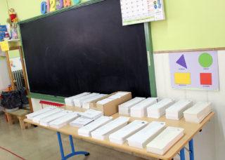 Paperetes electorals a l'escola El Palau, on va guanyar CiU // Jose Polo