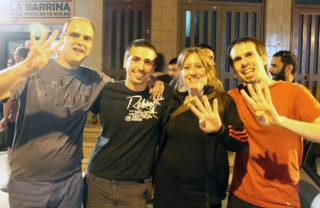 Els 4 regidors de la CUP Molins de Rei a la propera legislatura // Elisenda Colell
