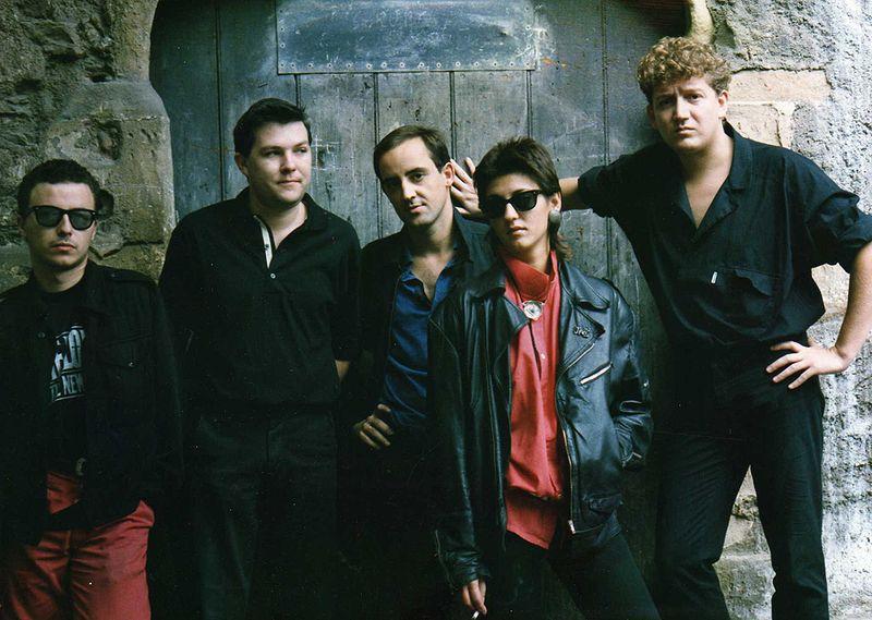 Joan Calduch, a la dreta, amb el seu grup // Arxiu