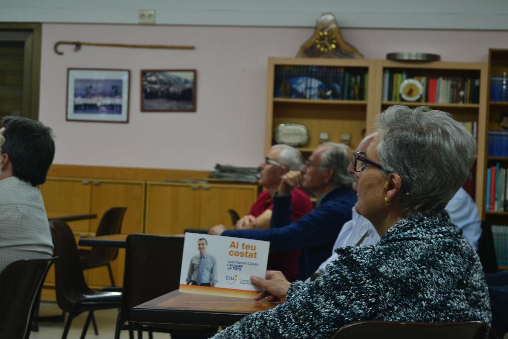 L'acte de presentació va ser al Casal d'Avis 1r de Maig // Elisenda Colell