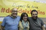 Marc Rebulà, Silvia Guillén i Eduard Suárez, els tres regidors d'ERC contents de la vistòria // Elisenda Colell