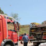 Incendi d'una hectàrea de massa forestal a prop de l'ermita de Sant Pere de Romaní
