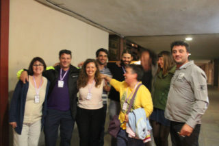 Membres de la candidatura de Molins Camina, eufòrics // Elisenda Colell