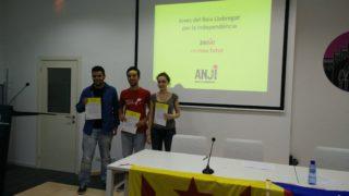 Els ponents de l'acte a la Federació Obrera // ANJI Baix Llobregat