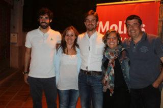 Pep Puiggarí, Ainhoia Garcia, Xavi Paz, Jéssica Revestido i Miguel Zaragoza, els 5 regidors del PSC// Elisenda Colell