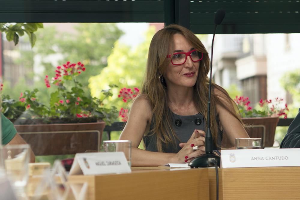 Anna Cantudo en el seu últim ple municipal // Ajuntament de Molins de Rei