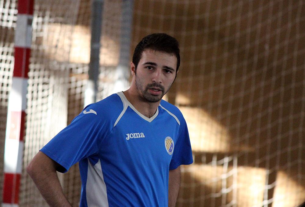 Àlex Sánchez Ajo, del CFS Molins 99, en un instant del partit // Jose Polo