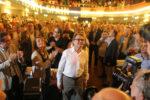 La conferència d'Artur Mas ha aixecat una gran expectació de públic i mediàtica // Elisenda Colell