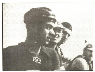 Santi Prat abans de la cursa de Festa Major de l'any 1948 // El Llaç