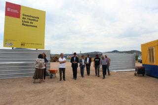 Representants de la Generalitat i l'Ajuntament durant la visita d'obres // Jose Polo