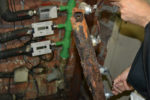 Una canonada que va haver de ser renovada, completament corcada // Elisenda Colell