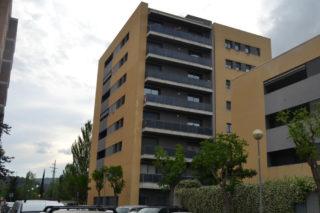 El bloc de pisos afectat, ubicat al carrer Arada // Elisenda Colell