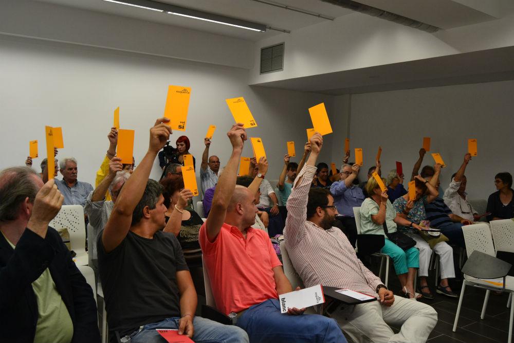 Moment de la votació // Elisenda Colell