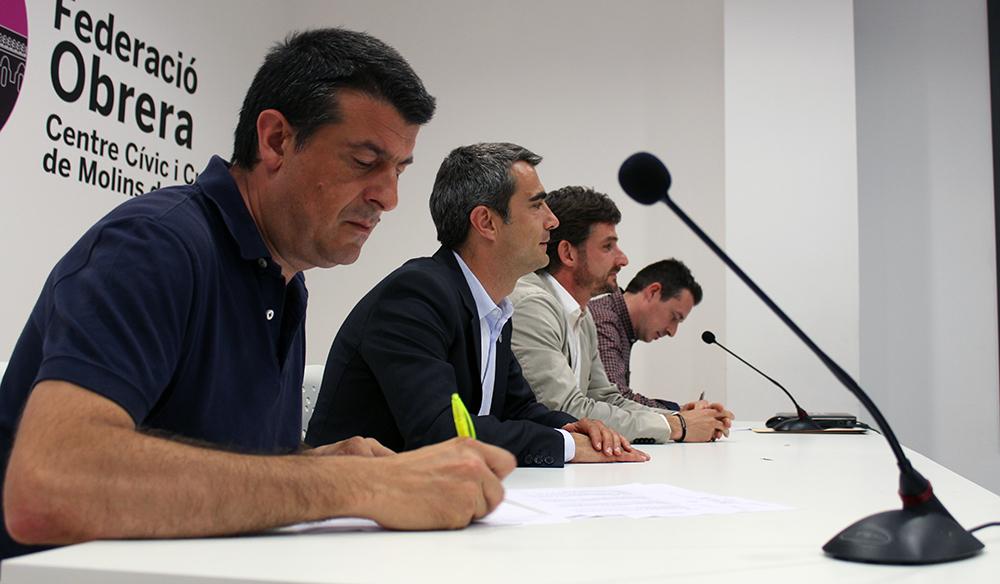 Zaragoza, Casals, Paz i Francés en el moment de la signatura // Jose Polo