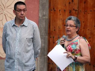 Rafa Jiménez i Cristina Vila durant l'últim sopar de germanor de l'AEM atletisme // Jose Polo