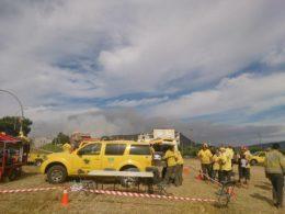 ADFs al punt de control de l'incendi forestal d'Òdena // Josep Ferrer