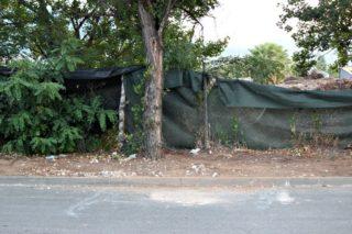 Punt del carrer El Pla on els TEDAX han hagut d'actuar per desactivar la granada // David Guerrero