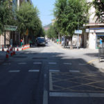 El carrer Verdaguer s'obre a la circulació menys d'un mes després de l'inici de les obres
