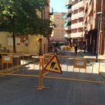 La plataforma única del carrer Rafael Casanova s'estén fins al racó de la Xirgu