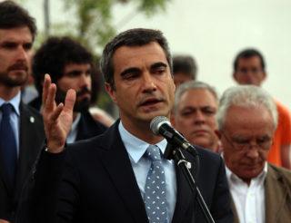Joan Ramon Casals durant el seu discurs // Jose Polo