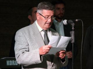 Leandre Pahissa, president de l'Associació Obrera, durant la seva intervenció // Jose Polo