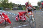 Un dels participants al circuit del parc de les Bruixes // Jose Polo