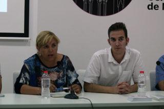 Ehliluch (ICV) i Pérez (Podemos) durant la roda de premsa // Jose Polo