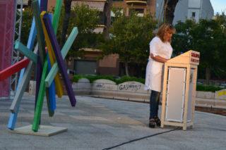 Saida Ehliluch, en el seu primer discurs a Catalunya Sí Que Es Pot // Elisenda Colell