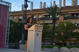 La regidora Ana Aroca, l'única en parlar en clau local // Elisenda Colell