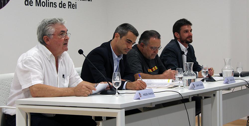Pahissa, Casals, Olivé i Paz durant la presentació de lllibre // Jose Polo