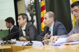 D'esquerra a dreta: Xavi Paz, Joan Joan Casals, Ramon Sànchez i Miguel Zaragoza // Ajuntament de Molins de Rei