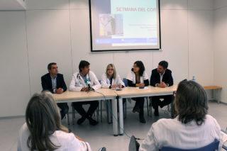 Casals, Freixa, Alonso, Moreno i Paz durant la roda de premsa de presentació // Jose Polo