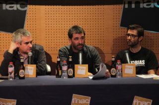 Albert Galera, Roger Sàbat i Miquel Pastor van presentar el festival en un acte a Barcelona // Jordi Julià