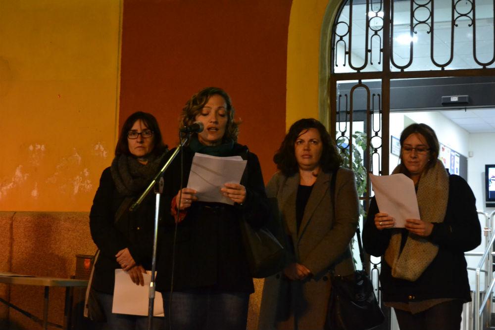 D'esquerra a dreta, Sílvia Guillén (ERC), Jessica Revestido (PSC), Ana Aroca (MC) i Mireia Romo (CUP) // Elisenda Colell