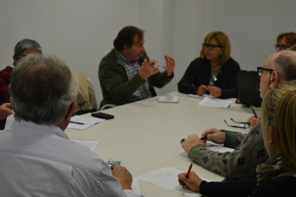 Saida Ehliluch, en un moment de debat amb Ramon Vila // Elisenda Colell