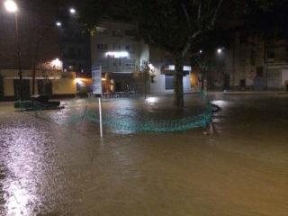 El Pati del Palau s'ha tornat a inundar // David Guerrero