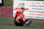 Àlex Agudo es queixa d'un cop en el partit contra el Sant Andreu // Jose Polo