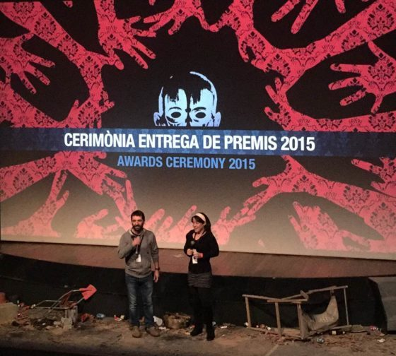 Imatge de l'entrega de premis // Festival de Cine de Terror de Molins de Rei