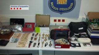 Imatges dels objectes robats per la banda // Mossos d'Esquadra