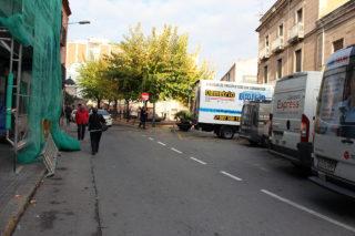 La plaça de la Creu i la carretera que arribar fins Pi i Margall i Carril // Jose Polo