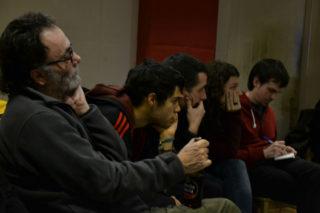 Militants i amics del partit han compartit impressions // Elisenda Colell