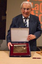 Josep Maria Jordà el 2011, quan va ser nomenat Fill Adoptiu de Molins de Rei // Arxiu - El Llaç